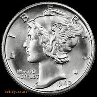 1940 Mercury Silver Dime BU
