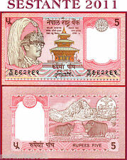 NEPAL -    5 RUPEES -    ND 1985 -  SIGN. 13   -  P 30a   -   FDS / UNC
