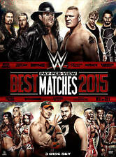 WWE: Best Pay-Per-View Matches 2015 (DVD, 2016, 3-Disc Set) NEW SEALED 78A