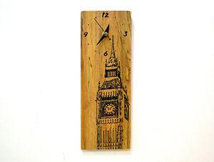 London Big Ben Engraved Wood - Wall Clock