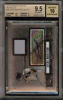 2008 Bowman Sterling Jesus Montero Rookie RC Jersey BGS 9.5 Autograph 10 Auto 08
