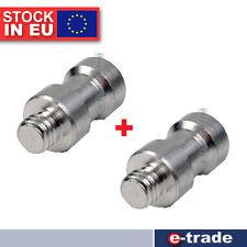 """2x Adapter Gewinde 1/4"""" 3/8"""" - 12mm -Studioblitz Stativ - Lichtständer Umwandeln"""
