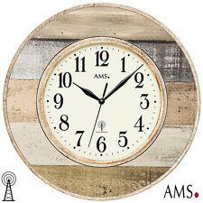 AMS 46 Radio Reloj De Pared Cristal Mineral oficina cocina 109