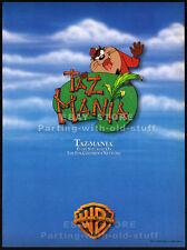 TAZ-MANIA__Original 1992 Trade AD / TV series promo__Warner Bros. Animation