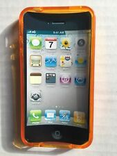 NEW! Clear Orange Soft Plastic Gel Cover Case Protective for iPhone 4 4S 4G 4GS
