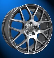RH NBU Race 8X17 5X112 ET35 anthrazit voll poliert VW AUDI SEAT SKODA MERCEDES