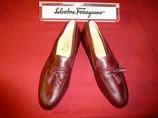 Ferragamo Ford Bordeaux Leather Men's Shoes 8D *RARE!* *NEW*