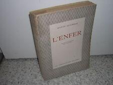 1930.l'enfer / Dante.envoi du traducteur Martin-Chauffier.n° & ill Edy Legrand