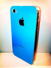 cover rigida Iphone 4 4S colore TURCHESE lato trasparente NEW COLOR