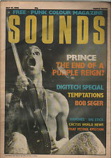 SOUNDS MAY 17 1986 PUNK ROCK MAGAZINE PRINCE BOB SEGER RAMONES SONIC YOUTH