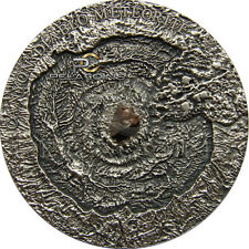 Niue Island 2014 1$ Meteor Canyon Diablo Meteorite 1oz - Antique Finish