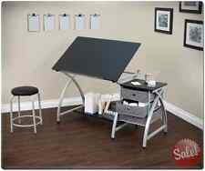 Drawing Table Desk Craft with Stool Studio Designs Station Art Storage Artist
