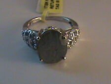 Malagasy Labradorite & Tanzanite Ring in Sterling Silver Size 7.5