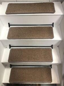 14  CARPET STAIR TREADS, WOOL 80/20 60cm X 20cm HARDWEARING
