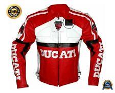 Cuero del zurriago Original Certificado las cotas de malla chaqueta de moto Ducati Rojo