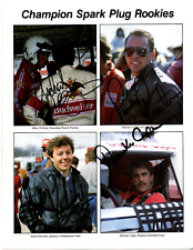 1985 NASCAR rookies original hand signed autographed photo
