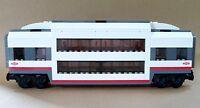 LEGO Train Custom City Passenger Double Deck Sleeper Car Club Carriage For 60051