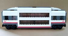 LEGO Train Custom City Passenger Double Deck Sleeper Car Club Carriage For 60051