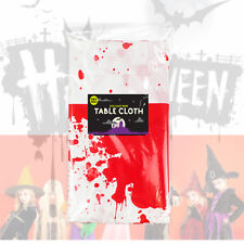 Halloween Plastic Party Decoration Cloths Tableware Table Cover Bloody Cobwebs