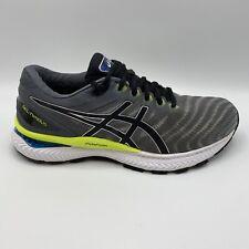 ASICS Men's GEL-Nimbus 22 Piedmont Grey / Black Running Shoes Size 8.5 Medium