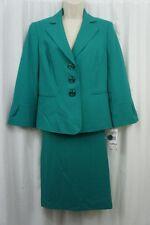 Le Suit Skirt Suit Sz 14 New Jade Green Business Career Dinner 2 PC Skirt Suit