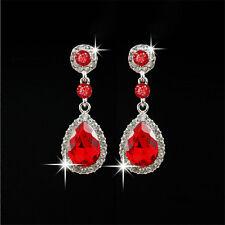 Elegant Women's Crystal Vintage Drop Dangle Rhinestone Ear Stud Earrings Jewelry