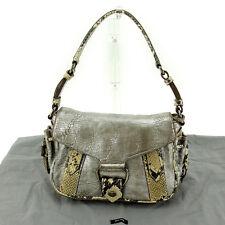 Auth MiuMiu handbag Python ladies used E1082