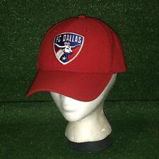 Official MLS ADIDAS FC Dallas Soccer Club Red Adjustable Strapback Hat Cap