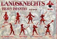Landsknechts Heavy Infantry 16th century 32 figures 8 poses Red Box 1/72 #72063