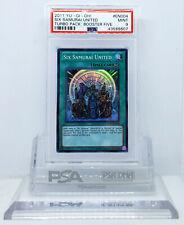 YUGIOH TU05-EN004 SIX SAMURAI UNITED SUPER RARE HOLO FOIL CARD PSA 9 MINT #*