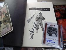 Smokin' Joe Frazier autograph LOT Earnie Shavers Signed auto Leaf foes of ALI $M