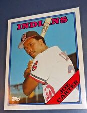 "VTG MLB JOE CARTER CLEVELAND INDIANS 1988 TOPPS 75 CARD FOLDER 9.5"" X 11.75"""