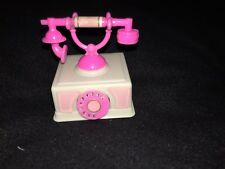 Barbie Action Accents Telephone - Works - winds up - Used