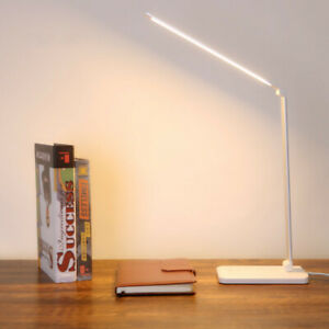 Stepless Dimmable Desk Reading Light Foldable Rotatable Touch Switch LED Table
