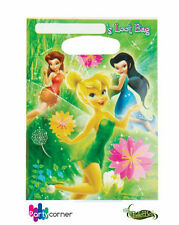 DISNEY FAIRIES TINKERBELL PARTY SUPPLIES LOOT BAGS PACK OF 8