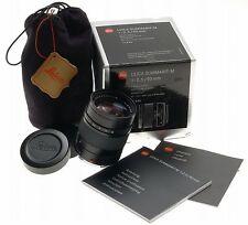 Leica 1:2.5/90mm Summarit-M Kamera Objektiv m9 m3 schwarz 6 Stück Einfarbig Garantie