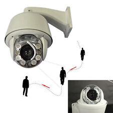 30X SONY CCD CCTV 750TVL PTZ Auto Tracking ZOOM DOME OUTDOOR 8PCS IR Camera SYS.