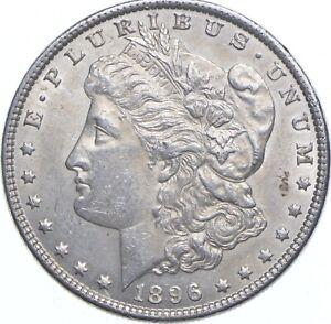 Early - 1896 Morgan Silver Dollar - 90% US Coin *766
