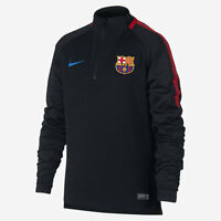 NIKE FC BARCELONA YOUTH DRY SQUAD DRILL TRAINING TOP Black/Black/University Red/
