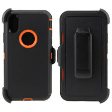 """Defender Shockproof Case Cover For iPhone XR Xs Max 6.5"""" Fits Otterbox Belt Clip"""