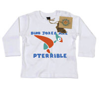 Dino Jokes are Pterrible Long Sleeve T Shirt Gift for Newborn Baby Dino Smalls