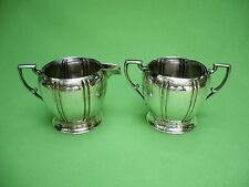 Vintage SF & Co. silverplate open sugar bowl & creamer.PILGRIM QUALITY. VGC