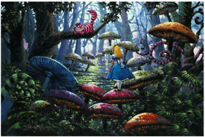 Disney Fine Art Limited Edition Canvas A Smile You Can Trust-Alice In Wonderland
