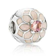 Authentic PANDORA Sterling Silver Clip Blooming Dahlia Charm 791828NBP