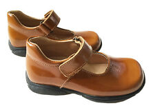 NATURINO Toddler Girls 25/US 9 Catania Lt Brown Patent Leather Mary Janes Shoes