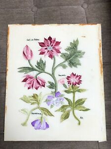 vintage quality embroidery work - flowers