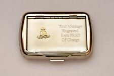 Royal Artillery Emblem  British Army Tobacco Hand Rolling Roll Up Cigarette Tin