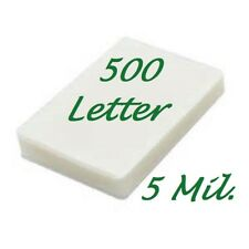 500 Letter Thermal Laminating Pouches Sheets 5 Mil 9 x 11-1/2 Scotch Quality