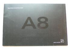 Prospekt Audi A8 Bang & Olufsen Advanced Sound System, 2005/2006, 14 Seiten