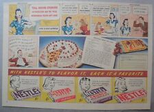 Nestle's Chocolate Bars Ad: Polka Dot Cake Recipe ! 1930's-1940's 11 x 15 inches